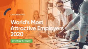 Os empregadores mais atrativos para trabalhar | Ranking Universum | Talent Portugal